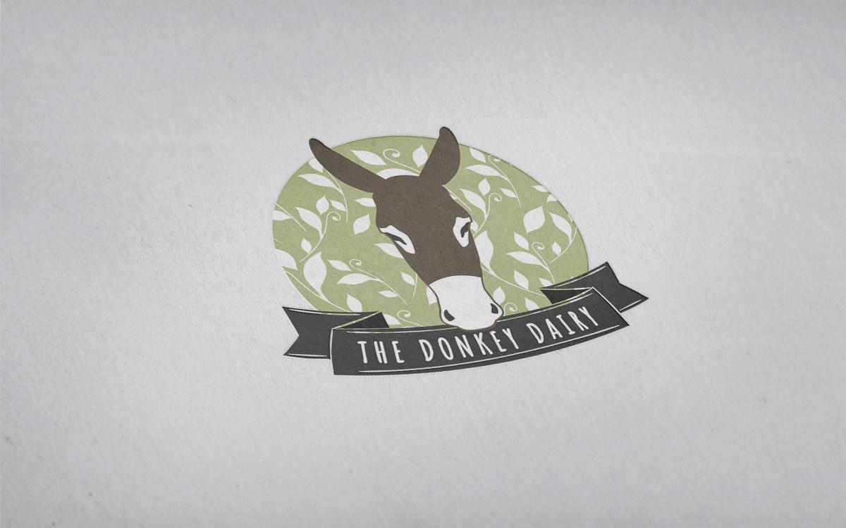 donkey dairy branding mockup